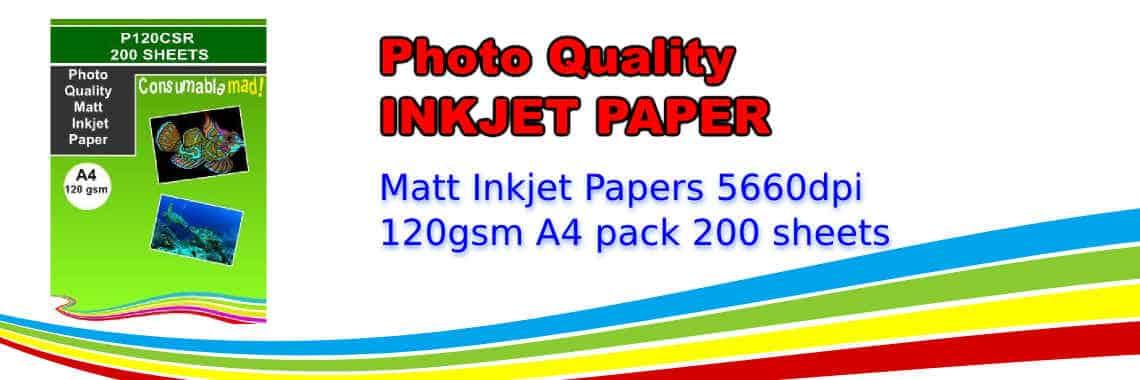 Photo Quality Matt Inkjet Paper