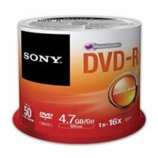 SO50DMR47SP Sony DVD-R 4.7GB Spindle (50 Pack)