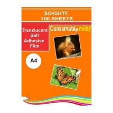 S045HTF100 Translucent Self Adhesive Film A4 Packed 100 Sheets